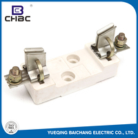 CHBC White Colour Low Voltage Porcelain Fuse Holder / Current Limiting Fuses Cut Out
