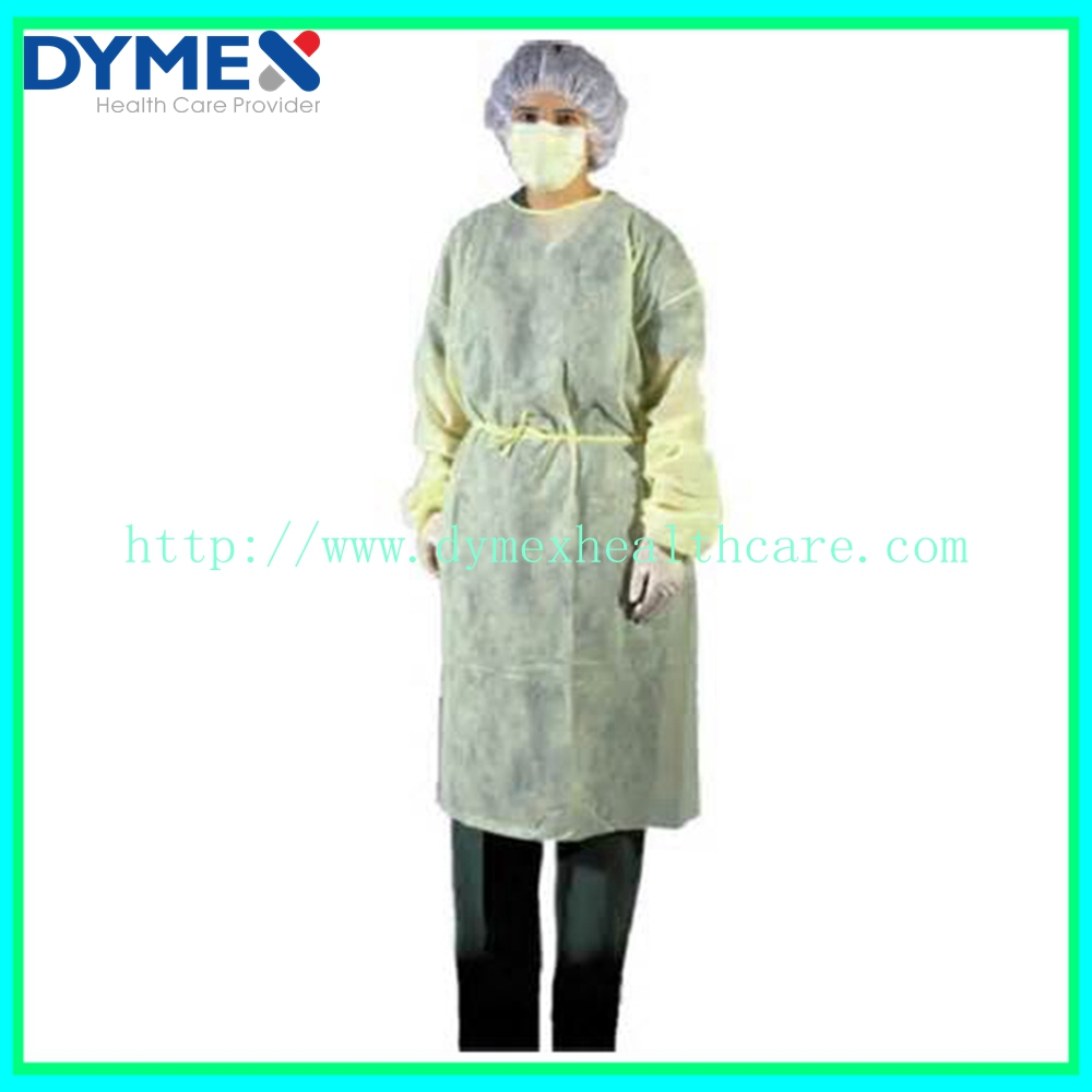 AAMI Level 3 Yollow Over Head High Quality Medical PP Isolation Gown