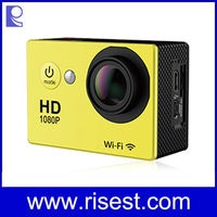 Motorcycle Sports Hd Waterproof Camera, Action Camera, Wifi Action Camera with 2 inch Screen and Waterproof Made in China
