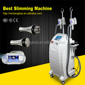 2018 Double cryo handles 4 in 1 Cryolipolysis Freeze Fat slimming Machine on sale & 2 Cryo + 1 Cavication + 1 RF