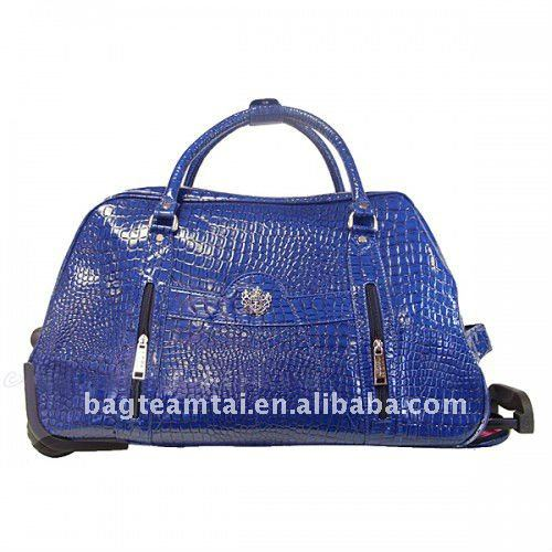 pu leather travel bag /weeknd bag /trolley bag
