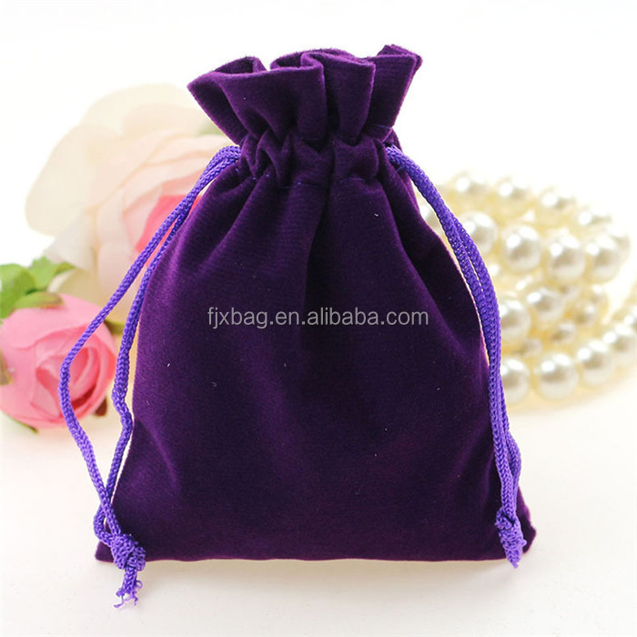 OEM Drawstring Sealing Custom Promotional Velvet Pouch Bag Jewelry bag