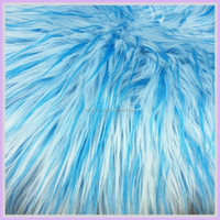 jacquard plush long pile fake fur fabric for stuffed animal China manufacturer