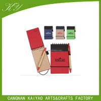 kraft eco paper notepad with kraft pen