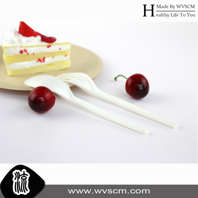 plastic pasta fork disposable biodegradable utensils with napkin