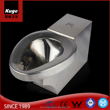 American prison style floor mounting P-trap toilet price stainless steel toilet for prison