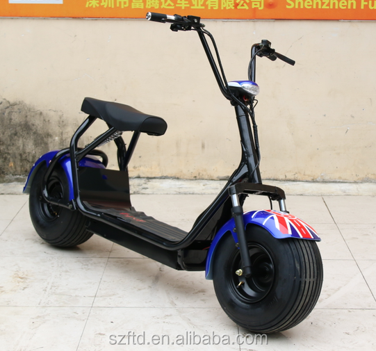 Best 1000w harley citycoco electric motorcycle with 2 seats