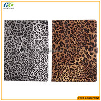 For ipad pro Leopard pattern pu leather case hot sale cheap price wholesale
