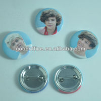 Factory made hot product cute made custom round metal pin badge
