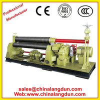 3 rolls hydraulic bending rolls with doble initial pinch used steel rolling machine for sale