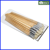 12PCS Wooden Handle 582 Artist Brush Set, Eterna Art Brush