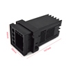 Black color plastic electric meter boxes instrument device box
