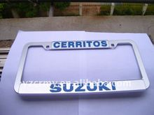 High end plastic license plate frames