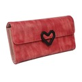100% pu leather fancy ladies clutch purse with pattern