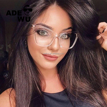 ADE WU 2018 Wholesale tide cat eye sunglasses fashionable mens sun glasses womens oversize frame glasses