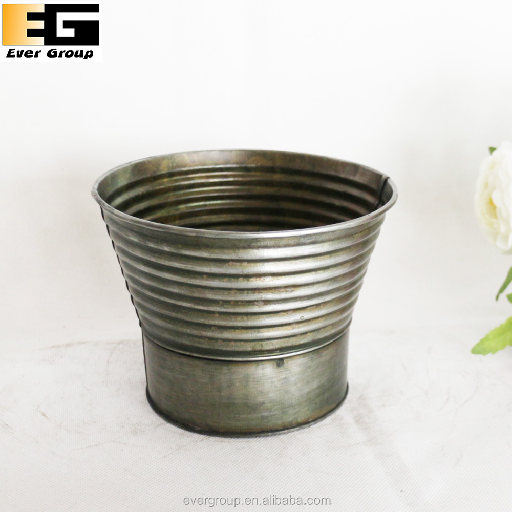 Bronze Zinc mini flower pots bulk,mini bucket