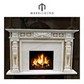 Newest hot sale interior decoration modern marble fireplace