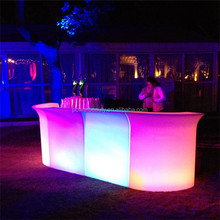 Outdoor plastic glowing recharging combined furniture led bar counter