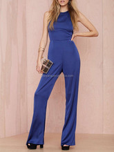 Offical adult women blue satin Jumpsuit- SYK15211