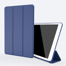 Custom PU leather flip magnetic cover case for ipad