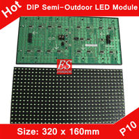 Shenzhen LED Semi-outdoor Giant Advertising P10 Green Color LED Display Screen Panel
