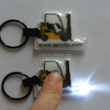 Souvenir Keychain UV Purple Light 365-370nm Custom Led Key Chain High Quality PVC Key Chain