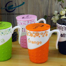 silicone rubber cup sleeve & silicone coffee sleeve with handle