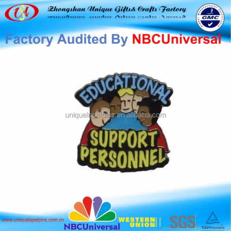 High Quality Customized Education Backer Design Metal Badge Lapel pin