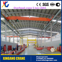 Best Single Beam Overhead Traveling Crane 5 ton, 10 ton, 20 ton With Hoist for Workshop