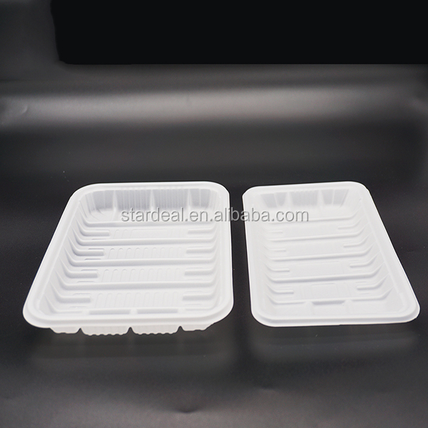 customized plastic disposable compartment lunch tray food blister tray