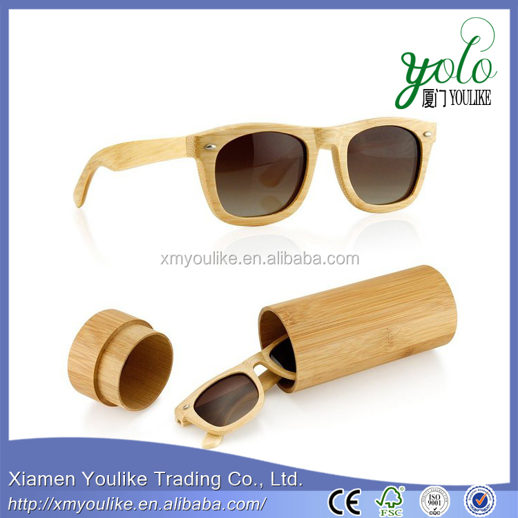 Wooden Mens Womens Vintage Sunglasses Eyewear with Bamboo box