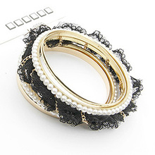 Candygirl brand ladies models small beads wholesale leather crystal bracelet