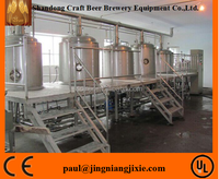 High quality 2000L stainless steel 304 beer brewing equipment with 3 years warranty at home for sale for small business