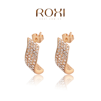 ROXI rose gold crystal stud earrings for women wholesale jewelry