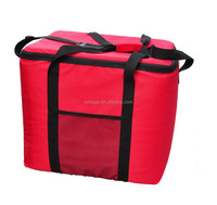 eco material folding picnic cooler bag / picnic basket and cooler bag / outdoor cutlery set