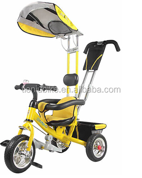 2014 Canton fair Booth No.: 14.1-J-08 Date:23th-27th Oct Hebei Tieniu baby tricycle with top cover with wheel size 10inch 8inch