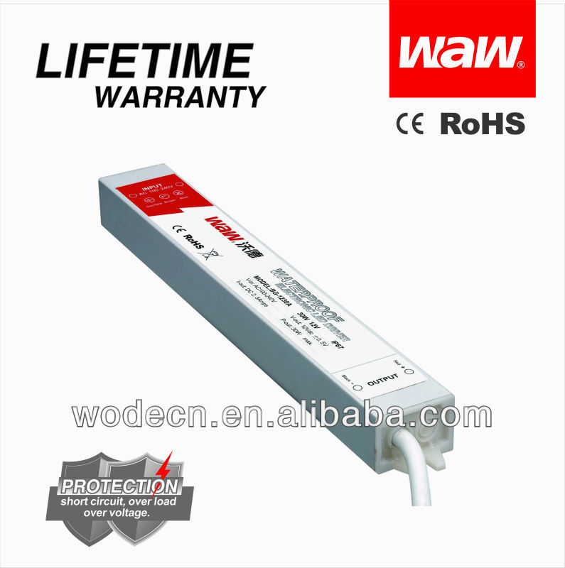 ac/dc 12V 2.5A 30W constant voltage LED driver