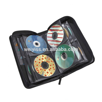 Classic CD/DVD Black Case/wallet with zipper closure, CD case manufacturers & suppliers & exporters