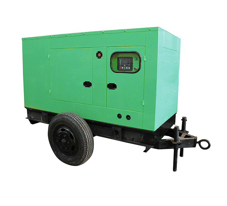 150kva portable diesel generator 120kw diesel engine generator with two-wheeled trailer