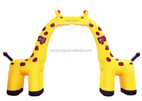 Factory Direct Supply Decoration Cheap Giraffe Hot Sale Inflatable Arch