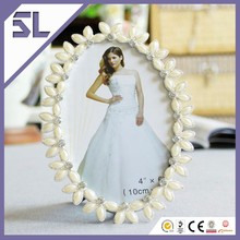 4x6 Oval Shaped Decorative Pearl Wedding Picture Frame