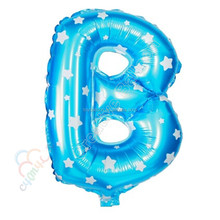 Letter balloon alphabet Balloons for wedding decoration with star printing
