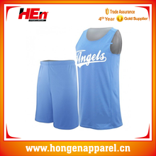 2015 New Style Girl`s USA Basketball Uniforms Color Blue