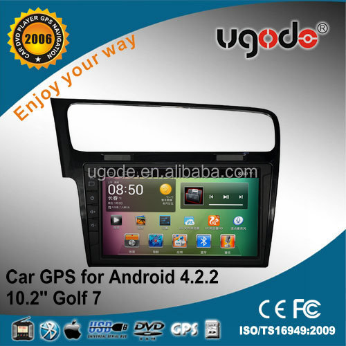"For 10.2"" dual core tablet VW GOLF 7 android GPS navigation"