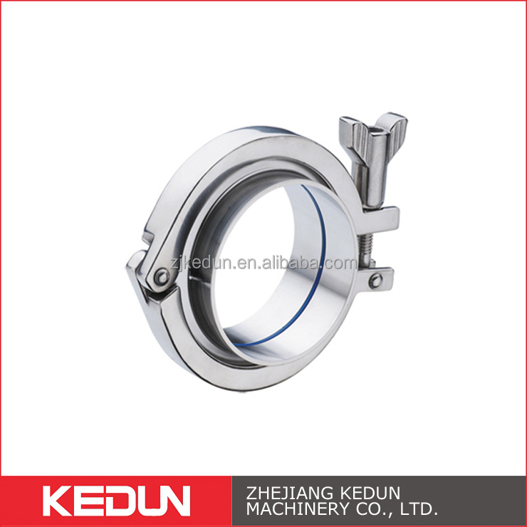 SS304 SS316L Material Stainless Steel Pipe Fitting Clamp
