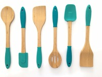 Organic Wooden Bamboo Cooking & Serving Utensils, kitchen utensils set