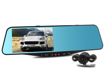 SIV M8 Novatek 96655 5 inch Full HD Dual Lens Rearview Mirror with Rear Camera DVR