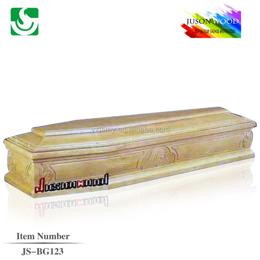 JS-BG123 funeral solid wood antique coffin