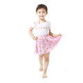 Kids Top and Dress Gold Polka Pink Skirt