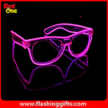Blue el glasses El Wire Fashion Neon LED Light Up Shutter Shaped Glow Sun Glasses Rave Costume Party DJ Bright SunGlasses